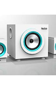 musikverdenen m333 multimedia højttalersystem 2.1 pc højttaler træ aktiv højttaler baslyd