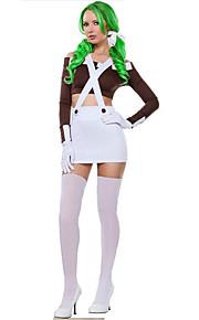 Kostume Prinsesse serie kostymer Halloween / Jul / Karneval / Nytt År / Oktoberfest Hvit Ensfarget Terylene Topp / Skjørte