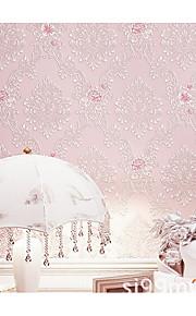 Damas / Rayure / Décoration artistique / 3D Fond d'écran pour la maison Rustique Revêtement , Tissu Non-Tissé Matériel adhésif requisfond