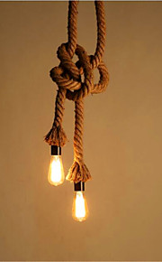 40 Hängande lampor ,  Rustik/Stuga / Vintage / Kontor/företag / Rustik Rektangulär Särdrag for designers TygLiving Room / Bedroom /