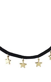 Modische Halsketten Ohne Stein Schmuck Alltag / Normal Basis Design Aleación Goldfarben / Silber 1 Stück Geschenk