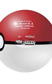 10000mah usb kugleform batterioplader instict / mystisk magt bank velegnet til alle telefoner