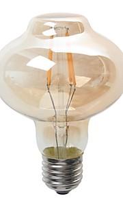 4W E26/E27 Ampoules Globe LED G80 4 COB 380 lm Blanc Chaud Décorative / Etanches V 1 pièce