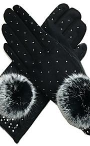 vinter kvinners hansker (svart)