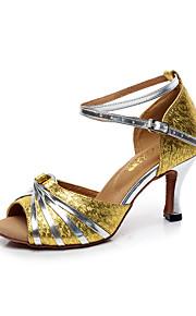 Zapatos de baile(Negro / Oro) -Latino-Personalizables-Tacón Stiletto