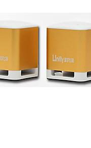 Aluminum alloy shell mini phone small speaker 2 dual channel bass gun