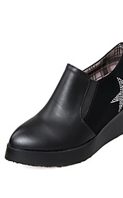 Women's High Heels Ankle High Solid Pull On Boots