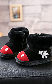 Girl's Boots Others Leather Casual Black Gray