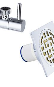 Tilbehørssett til badeværelset / Krom12*11*8.5cm /Messing /Moderne /12 11 0.6