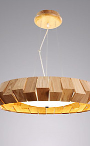 24w Pendant Light ,  Modern/Contemporary / Country Wood Feature for Designers Wood/BambooLiving Room / Bedroom / Dining Room / Study
