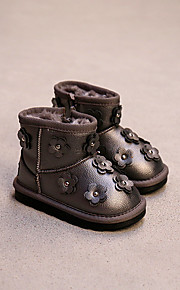 Girl's Boots Comfort Leatherette Casual Black Pink Gray