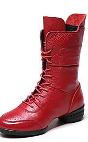 Для женщин-Кожа-Не персонализируемая(Черный / Красный) -Модерн / Танцевальные сапоги