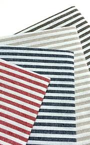 Neliö Striped Placemats / Napkin , Mélange Lin/Coton materiaali Taulukko Dceoration 4