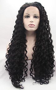 Sylvia Synthetic Lace front Wig Natural Black Hair Heat Resistant Long Curly Synthetic Wigs