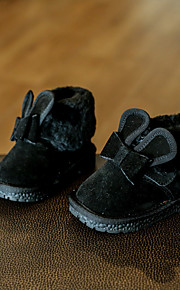 Girl's Boots Comfort Suede Casual Black Pink