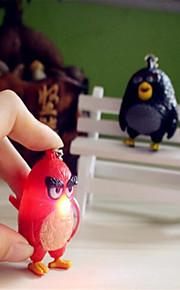 sarjakuva vihainen lintu ääni solki led valoa säteilevä avaimenperiä
