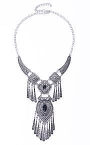 Modische Halsketten Türkis / Obsidian Halskette Schmuck Halloween / Party / Alltag / Normal Modisch / Euramerican Aleación Silber 1 Stück