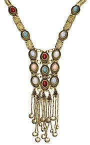 Modische Halsketten Statement Ketten Schmuck Party / Alltag / Normal Quaste / Modisch Aleación Damen 1 Stück Geschenk Goldfarben / Silber