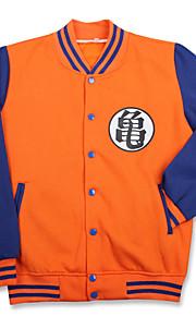Cosplay Suits Inspirert av Dragon Ball Son Goku Anime Cosplay Tilbehør قميص Svart Bomull Unisex
