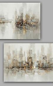 手描きの 抽象画 油彩画,Modern / クラシック 2枚 キャンバス ハング塗装油絵 For ホームデコレーション