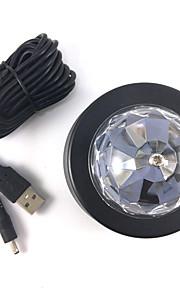 1stk 3wcar dj LED lampe bil førte dekorativ lampe rgb førte bil dj lampe
