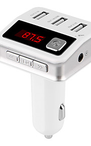 Bluetooth FM Transmitter Bluetooth Car Kit Three USB Charger Port