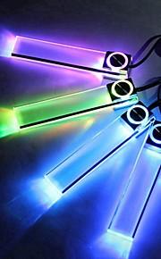 ziqiao 4 i 1 12v bil atmosfære lampe afgift førte indvendige gulv indretning lys