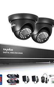 sannce 1.0MP 720p 4 kanaals hd 4 in1 tvi h.264 dvr in de buitenlucht cctv bewakingscamera /