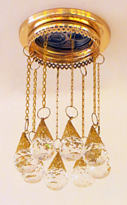 Gold Color Luxury Crystal Balcony Ceiling Lights Recessed Lighting Entrance Lights