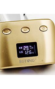 agetunr 3-weg sigarettenaansteker splitter autolader adapter dual usb-poort 2.1a met display batterij voltageinterior temperatuur