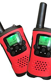 børn walkie talkies 22 kanaler og back-lit LCD-skærm (op til 6km i åbne områder) walkie talkies til børn (1 par) T48