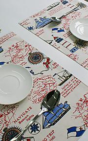 Rectangular Impresión Juego de Mesa , Algodón Compuesto Material Hotel Dining Tabla / Tabla Dceoration