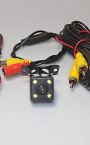 assistenza al parcheggio auto sistema posteriore telecamera 4 LED HD del CCD retrovisore invertire invertire la visione notturna