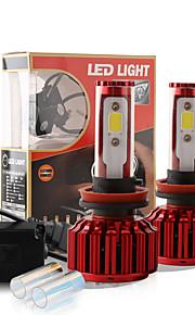 2017 nye h11 60W 6000lm cob chip førte forlygte konvertering kit 2 farver 5000K yale gul 6000K hvid pærer lampe par