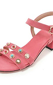 Women's Sandals Spring Summer Fall Other PU Outdoor Dress Casual Chunky Heel Rivet Yellow Green Pink Orange