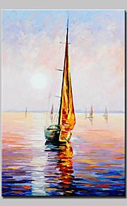 手描きの 風景 抽象的な風景画 油彩画,Modern 欧風 1枚 キャンバス ハング塗装油絵 For ホームデコレーション