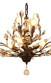 40 Lustre ,  Contemporain Traditionnel/Classique Rustique Retro Rétro Lanterne Globe Peintures Fonctionnalité for Cristal LED MétalSalle