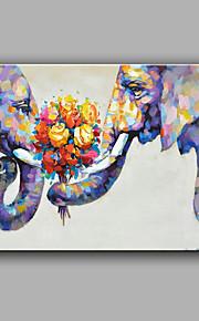 手描きの 抽象画 動物 横長,Modern 1枚 キャンバス ハング塗装油絵 For ホームデコレーション