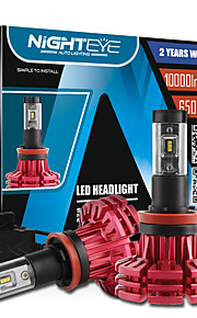 nighteye IP68 2pcs / set super luminoso 60w 10000lm h11 con Philips ZES ha condotto le lampadine kit fari lampade nebbia bianca luci led