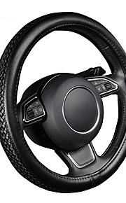 autoyouth pu lederen stuurwiel hoes zwart lychee patroon met anti-slip vlechten stijl m size fits 38cm / 15 diameter