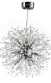 3 Lustre ,  Globe Chrome Fonctionnalité for Cristal Métal Salle de séjour Salle à manger Bureau/Bureau de maison