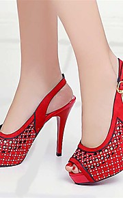 Women's Sandals Spring Summer Fall Other PU Party & Evening Dress Casual Stiletto Heel Others Black Yellow Red Coffee
