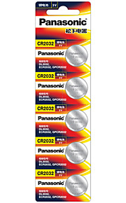CR2032 Panasonic&de botón de litio pilas de 3V 5 pack