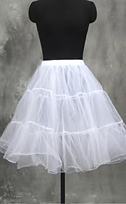 Underklänningar A-linjeformad Underkjol/klänning Balklänning Underkjol Kort Knälång 3 Tyll Vit Röd Rosa
