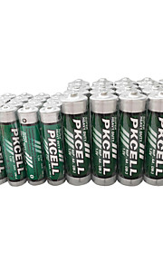 pkcell R03P aaa aa R6P droge cell batterij 1.5v 40 Pack