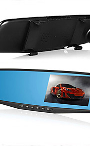 achteruitkijkspiegel auto dvr 4,3 inch 1080p auto camcorder dual lens video registrator g-sensor hd dash cam auto camera recorder