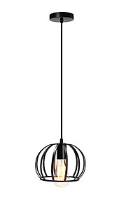 Max 60W Vintage Black Metal Loft Pendant Lights Living Room Dining Room Hallway Cafe Bars Light Fixture