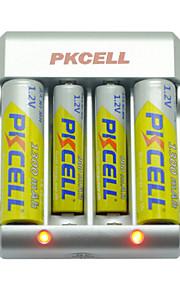 pkcell 8174 aaa aa nikkel-cadmium batterij 1.2V 900mAh 5 pack