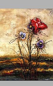 Peint à la main Paysage A fleurs/Botanique Panoramique Horizontale,Classique Moderne Un Panneau Toile Peinture à l'huile Hang-peint For