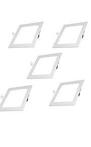 5PCS 6W 100-240V  810LM Warm White/Natural White Ultra-thin LED Recessed Panel Light Square